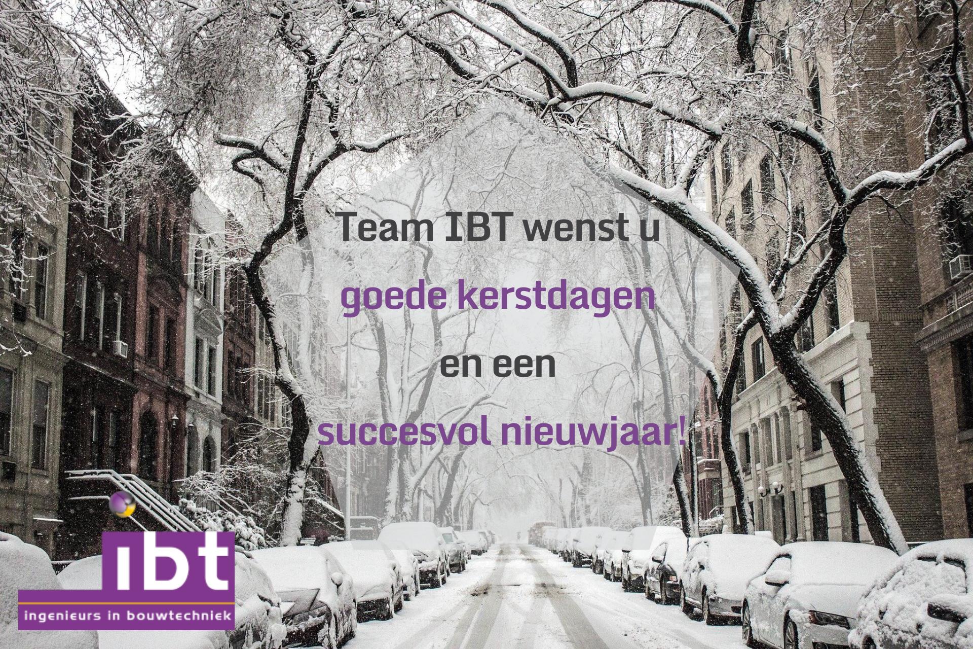 Team IBT wenst u goede kerstdagen en een succesvol nieuwjaar